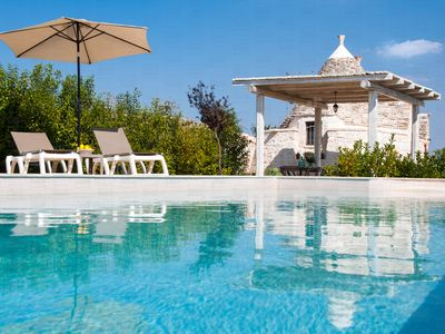 Photo for Trullo di Bacco: Peaceful Countryside Trullo with Pool