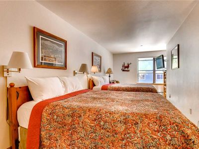 Photo for Hotel with 2 queen beds in the heart of Breckenridge, ski in via 4 o'clock run!