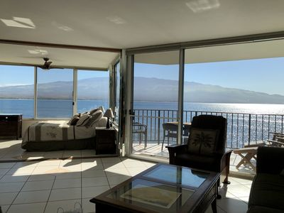 Expansive Glass panoramic ocean view as you enter the condo
