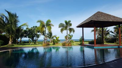 Photo for A luxury house in the tropics by the beach in a private domain