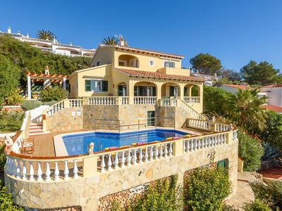Photo for Villa Carrer - 4 Bedroom villa with stunning sea views - Great pool area