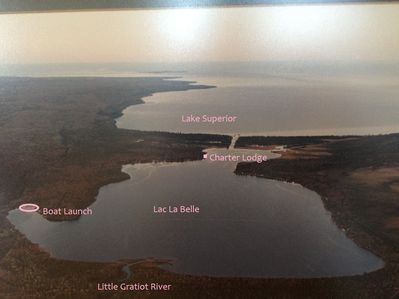 Keystone Cottage is on the far end of Lac La Belle near Lake Superior