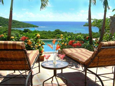 Photo for Luxury Caribbean Villa with Panoramic Ocean View and Pool