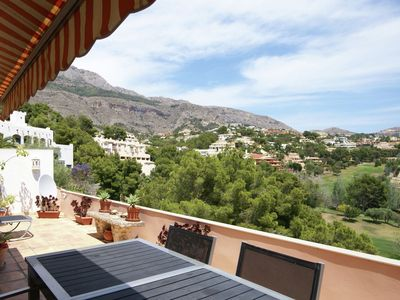 Photo for Fantastic apartment for 4 people on the gulf with large terrace and communal swimming pool