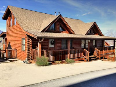 Photo for Cabin 427 is two bedroom duplex cabin with private deck and hot tub with