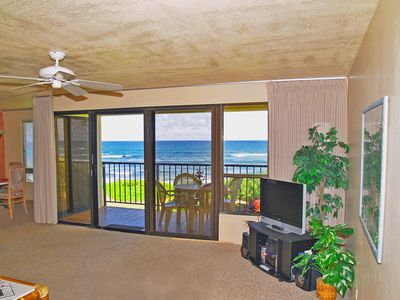 Photo for Direct Ocean Front Condo - Any closer and you would be IN the ocean!