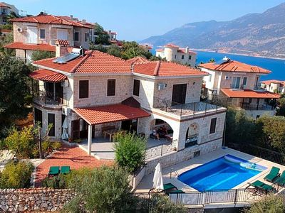 Photo for Kas Villa, Sleeps 8 with Pool and Air Con