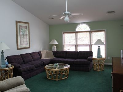 Photo for Sea Trail Resort--On Golf Course ,Beach 1 Mile, Spacious 2200sf, Linens Provided