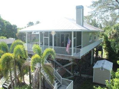 Photo for Beautiful 3BR with many upgrades!  Comfortable beds, dockage, larged screened porch, lower deck and more!  Jewel of the Sea, #0151, Little Gasparilla Island