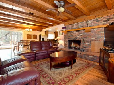 Photo for Summit Enchantment: Near Snow Summit & Village! Hot Tub! Flat Yard! Cable TV! Game Room!