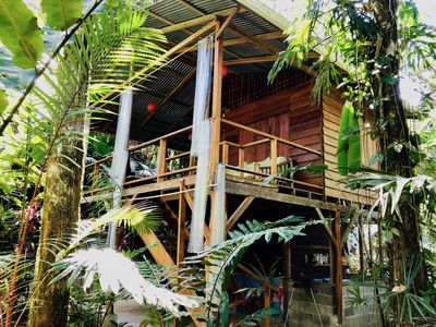 Photo for Tranquila Cabin surrounded by tropical gardens, fo - Bungalow for 2 people in Manzanillo