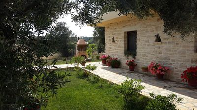 Photo for Villa Elia is situated in a quiet area, surrounded by olive trees with a private