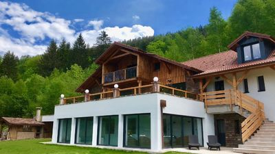 Photo for Exceptional chalet with private pool in Ventron for 14 people