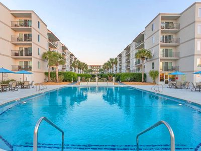Photo for Beautifully Updated Ocean View 2BR/2BA Beach Club Condo! Steps to beach!