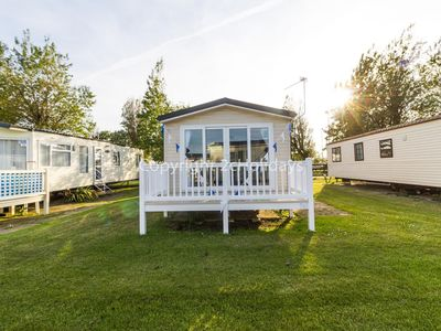 Photo for California Cliffs Norfolk 6 berth caravan for hire - decking & pets ok ref 50027