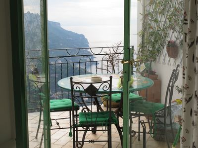 Photo for A terrace to dream in an amazing place to visit in the middle of the AmalfiCoast
