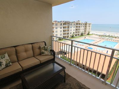 Photo for Top Floor Condo with Ocean & Pool Views! No-Drive Beach & Recently Remodeled!