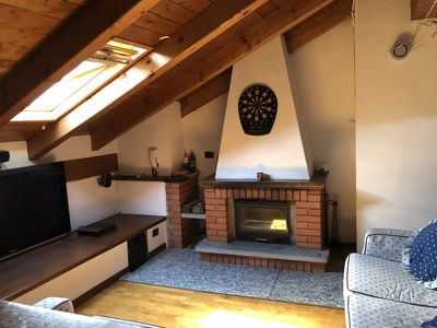 Photo for Attic penthouse with corner bar and poker table