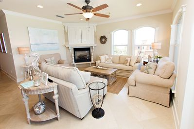 Living Room with Extensive Views of the Gulf.