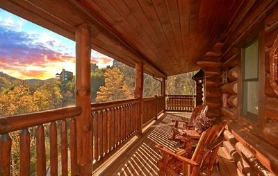 Deck with Rocking Chairs, Swing for Two