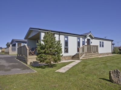 Photo for Luxury 3 bed Lodge In Soar, Salcombe, Devon, Sea & Country views