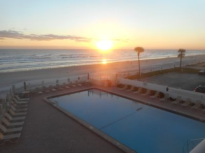 Photo for Condo Overlooks the Pool and Beach with Very Private and Intimate Balcony