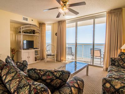 Photo for Crescent Shores, 2 Bedroom Beachfront Condo, Hot Tub and Free Wi-Fi!