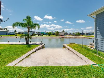 Private boat ramp for guest use