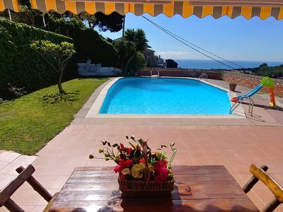 Photo for Can Carrion a large pool overlooking the sea