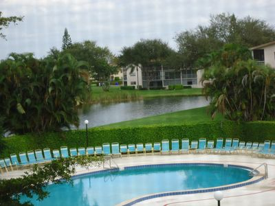 Photo for 55+ Condo, 2 Bed, Beautiful Pool & Lake View. $2400