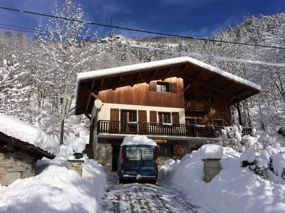 Photo for Spacious Alpine Chalet with access to Les Arcs, Ste Foy & La Rosiere