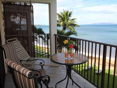 Photo for Lovely Beach Front 1 Bdrm Condo - Kihei Beach #305