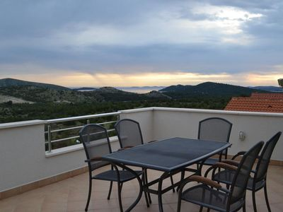 Photo for Two bedroom apartment with terrace and sea view Grebaštica, Šibenik (A-13365-b)