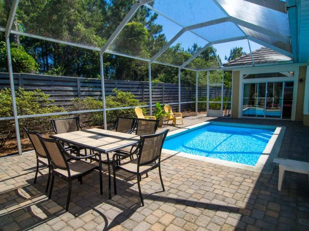 Family favorite private heated pool in the backyard - Destin florida 4 bedroom condo rentals ...