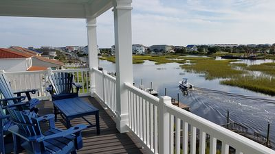 Photo for Waterfront with Dock,Free Golf Cart***, Pool,Elevator,Linens,Spectacular Sunsets