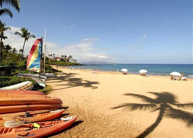 Maui's Best sandy beaches right across from us.