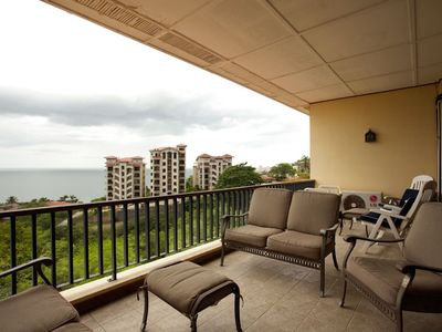 Upper terrace with ocean views
