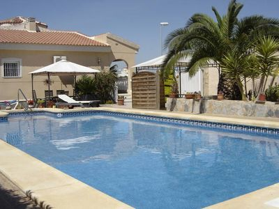 Photo for Detached holiday home with private swimming pool located at La Marquesa Golf near Rojales.