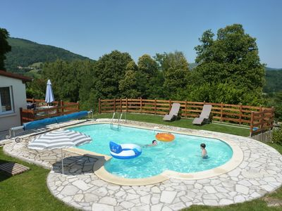 Photo for Renovated apartment in Serres-sur-Arget with swimming pool