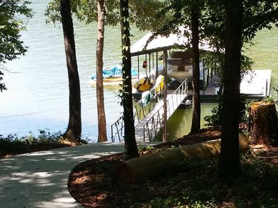 Photo for 😎Lake Front Private Retreat 15 min to Clemson🏈 Dock, Pdle boat, Kayaks, canoe