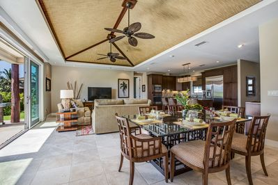 The Great Room features island-style living Tommy Bahama furnishings