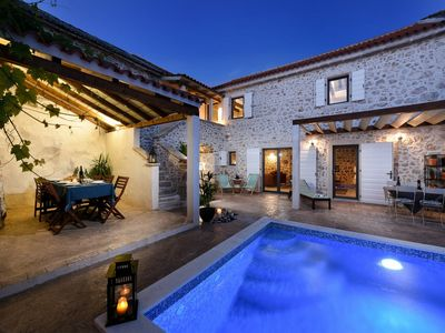 Photo for Dalmatian stone house (with heated pool),for max 8 people