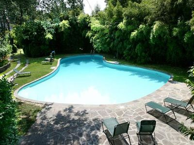 Photo for Stunning cottage in front has private swimming pool in the center of Lucca