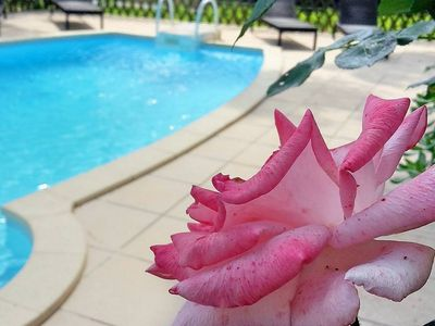 Photo for L'ARBOUSIER FOR 2/4 PERS -PISCINE HEATED BBQ WIFI - GULF OF ST-TROPEZ