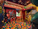 The Superhero Ballpit Bedroom (two twin beds).. Includes indoor rock climbing!