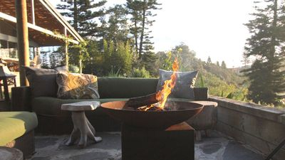 The Tilbury Lounge, has lots of comfortable outdoor lounges, fire pit & lanterns