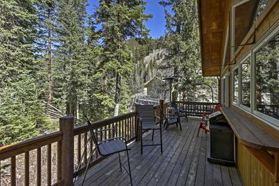 Enjoy peace and quiet on the spacious back deck.