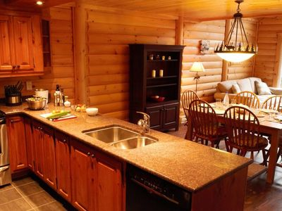 Photo for Bright + Spacious Log Cabin in the Mountains | Outdoor Hot Tub Access!