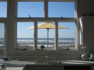 Looking at the ocean from kitchen window.