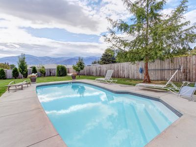 Photo for Laid-back, dog-friendly home w/private pool & spacious yard!